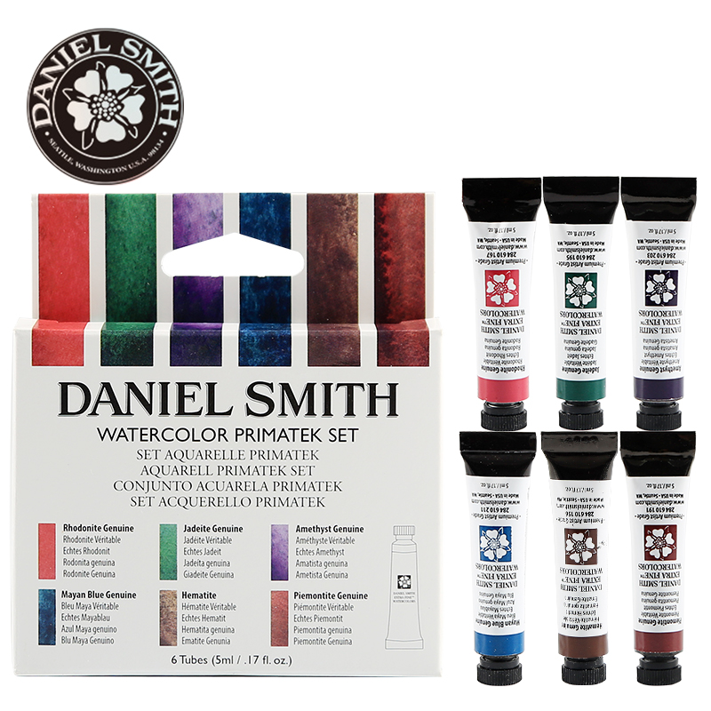 USA/America Daniel Smith Master Original Solid Watercolor DS Mineral Pigment Set Tube Mounting Aquarela Castagnet's Artist