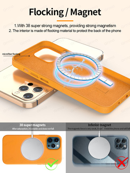 Magnetic Case For iPhone 12 Pro Max Original Genuine Leather Cover