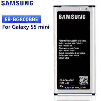 Original Replacement Battery For Samsung GALAXY S5 mini S5MINI G870A G870W SM-G800F Authentic EB-BG800BBE EB-BG800CBE 2100mAh original battery eb l1g6llu eb l1g6lla for samsung s3 i9300 gt i9301i i9308 s3mini s4 i9500 s4 mini i9190 s5 g900f s5 mini g870a