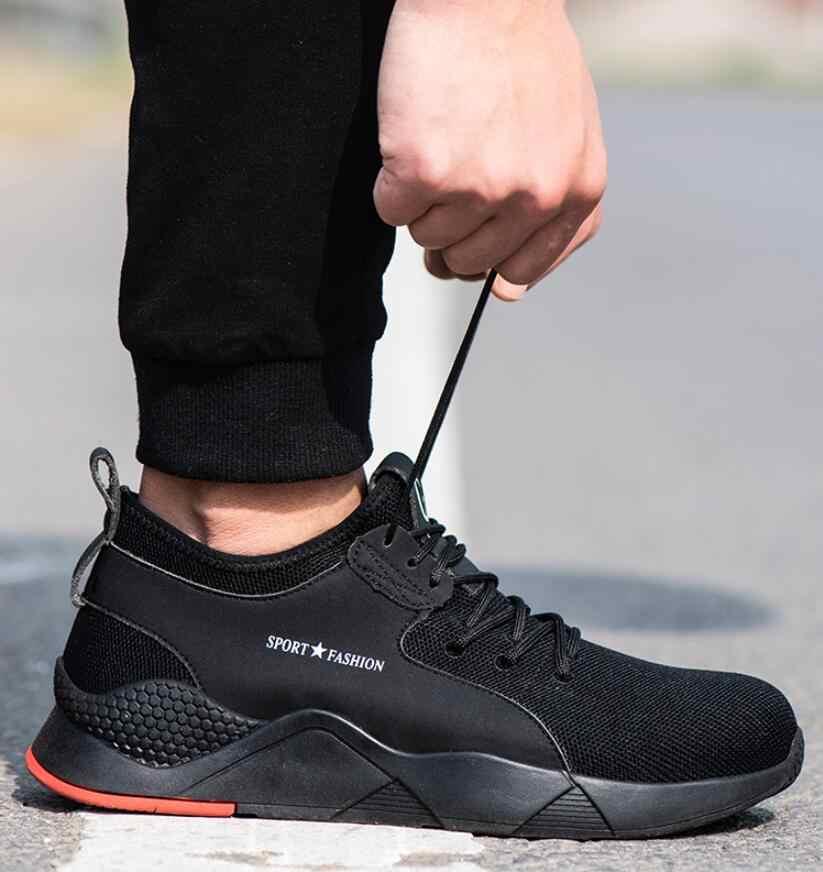 JX616 erkek çelik ayak iş güvenliği ayakkabıları rahat nefes açık ayakkabı Anti-smashing anti-piercing çizmeler tasarım ayakkabı