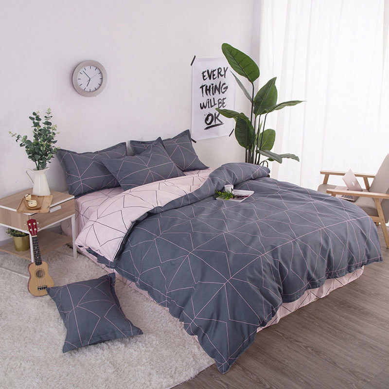 Geometric 4pcs Girl Boy Kid Bed Cover Set Duvet Cover Adult Child Bed Sheets And Pillowcases Comforter Bedding Set 2TJ-61006