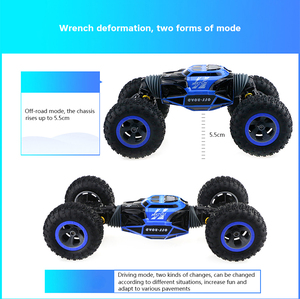 Image 5 - RC Car 2.4Ghz 1/16 4WD Double Sided Remote Control Car Amphibious Vehicle Stunt Car RC Stunt Car With Remote Controller For Fun