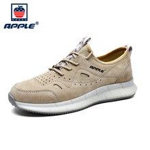 Бренд apple Осень зима нескользящая мужская обувь натуральная