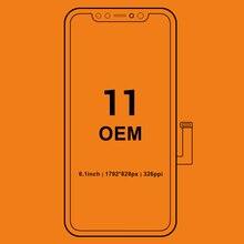 3 قطعة آيفون 11 برو ماكس شاشة LCD محول الأرقام مع شاشة تعمل باللمس الجمعية آيفون 11 شاشة LCD