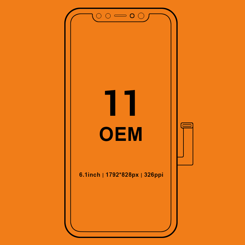 Grade 100% Orignal For Iphone 11 Pro Max LCD Display Screen Digitizer With Touch Screen Assembly For Iphone 11 LCD Screen