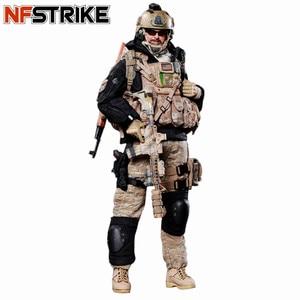 Image 1 - NFSTRIKE 30cm 1/6 מטלטלין צוות חקירת איור ריינג ר צבאי חייל דגם באיכות גבוהה פעולה איור חייל דגם