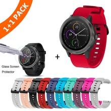צבעוני 20mm רצועת השעון עבור Garmin Vivoactive3 3 סיליקון צמיד צמיד עבור Vivomove HR רצועת תחליף Vivoactive 3