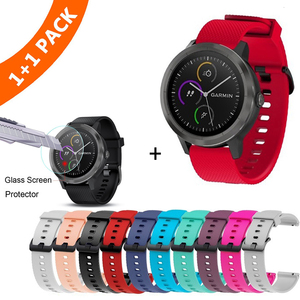 Image 1 - צבעוני 20mm רצועת השעון עבור Garmin Vivoactive3 3 סיליקון צמיד צמיד עבור Vivomove HR רצועת תחליף Vivoactive 3
