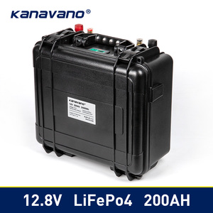 Waterproof 12v 200Ah Lifepo4 Battery Pack Built-in BMS 12.8V for Campers Power Supply EV Solar Storage Motorhome Solar Storage(China)