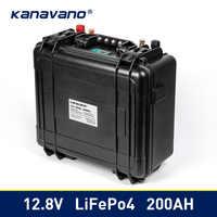 Waterproof 12v 200Ah Lifepo4 Battery Pack Built-in BMS 12.8V for Campers Power Supply EV Solar Storage Motorhome Solar Storage