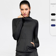 Fitness-Coat Training Yoga Sports Women Four-Seasons Hoodie Exercise Zippered Quick-Dry