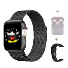 2020 IWO 13 seria 5 T500 inteligentny zegarek Bluetooth połączenie odtwarzacz muzyczny 44MM dla apple ios telefon z systemem android tętno PK IWO 8 12 tanie tanio lauhwl Android OS Na nadgarstku Wszystko kompatybilny 128 MB Passometer Fitness tracker Uśpienia tracker Wiadomość przypomnienie