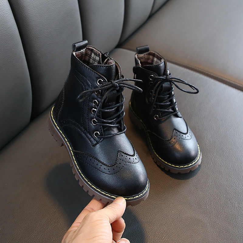 MHYONS 2019 Kinder Stiefel Jungen Schnee Wasserdichte Schuhe Kinder Echtem Leder Stiefel Jungen Stiefel Mädchen Martin Warme Schuhe Sport Schuhe