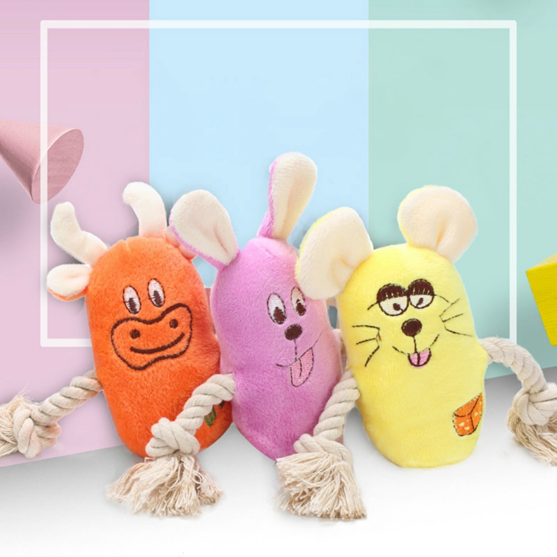 Pet Lovely Durable Plush Toys Dogs Chew Toys for Cleaning Teeth Solving <font><b>Boredom</b></font> image