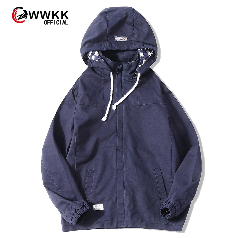 WWKK 2020 Men's Wear Casual Solid Color Jacket Of Slim Handsome Spring Autumn Casual Solid Color Large Size Baseball Clothes