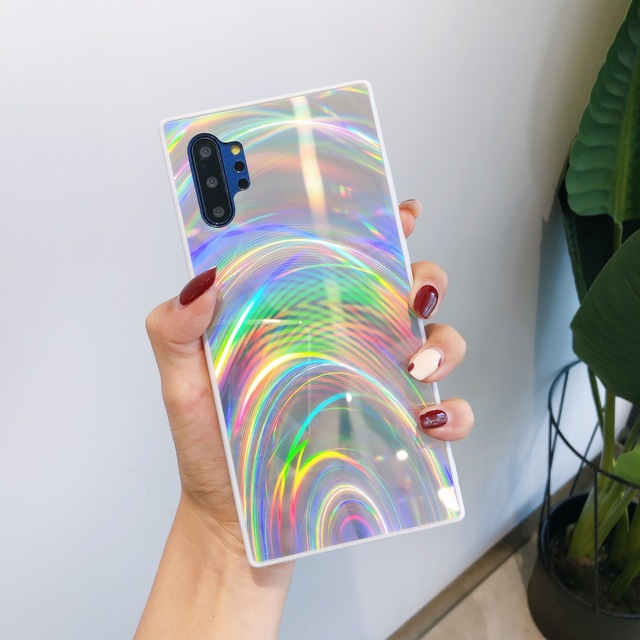 10 teile/los Gradienten Gehärtetem Glas Weiche TPU Rahmen Fall für Samsung S20 S20 Plus S20 Ultra Hinweis 10 10Pro A51 a71 M30S A30S A10E