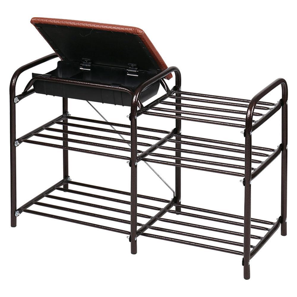 Hot Sale Multi-layer Shoe Rack Aluminum Metal Standing Shoe Rack DIY Shoes Storage Shelf Home Living Room Organizer Accessories