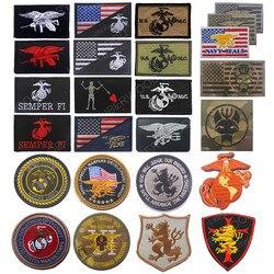 Eua corpo de fuzileiros navais usmc marinha seals 6 equipe tridente remendo operação de força especial devgru airsoft tático remendo distintivo
