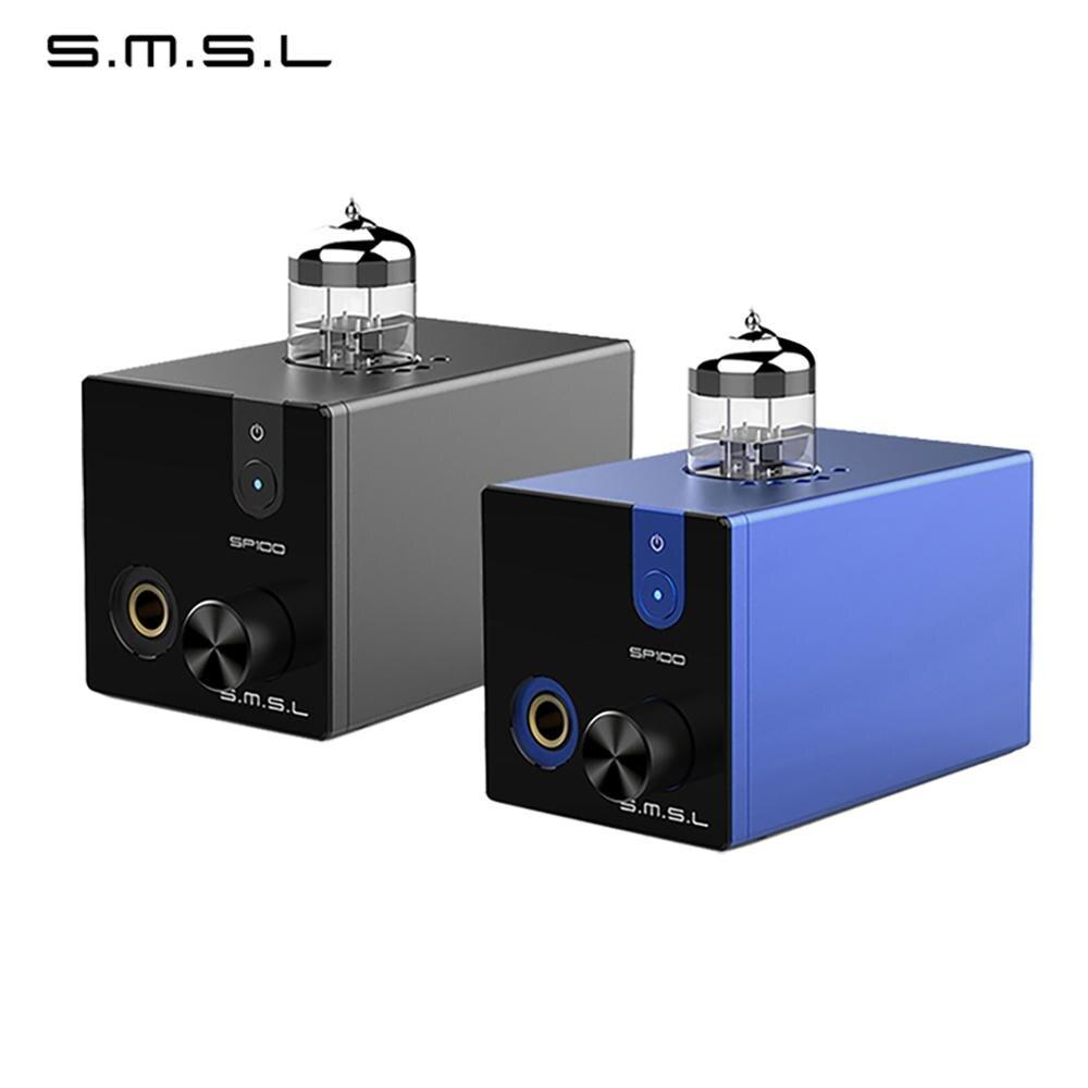 SMSL SP100 ламповый усилитель для наушников 6N3 трубка мощный Hi-End стерео усилитель аудио HiFi выход регулятор громкости