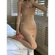 Женское сексуальное платье на бретельках и майка 721 #