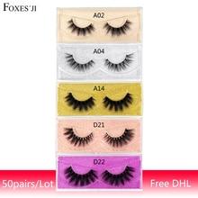 50Pairs/lot Lashes False Eyelashes Free DHL 3D Mink Lashes Natural long Soft Fluffy Eyelash Extension Thick Criss wholesale Lash