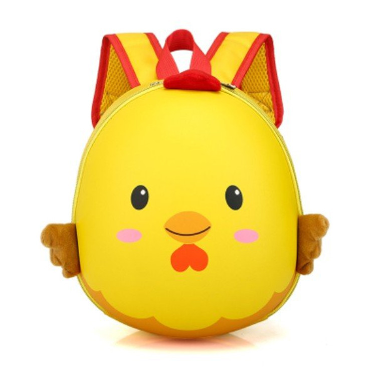 Chickens Hard Case Children's Bags Pupil's Bag 3D Cartoon Waterproof Egg Shell Backpack