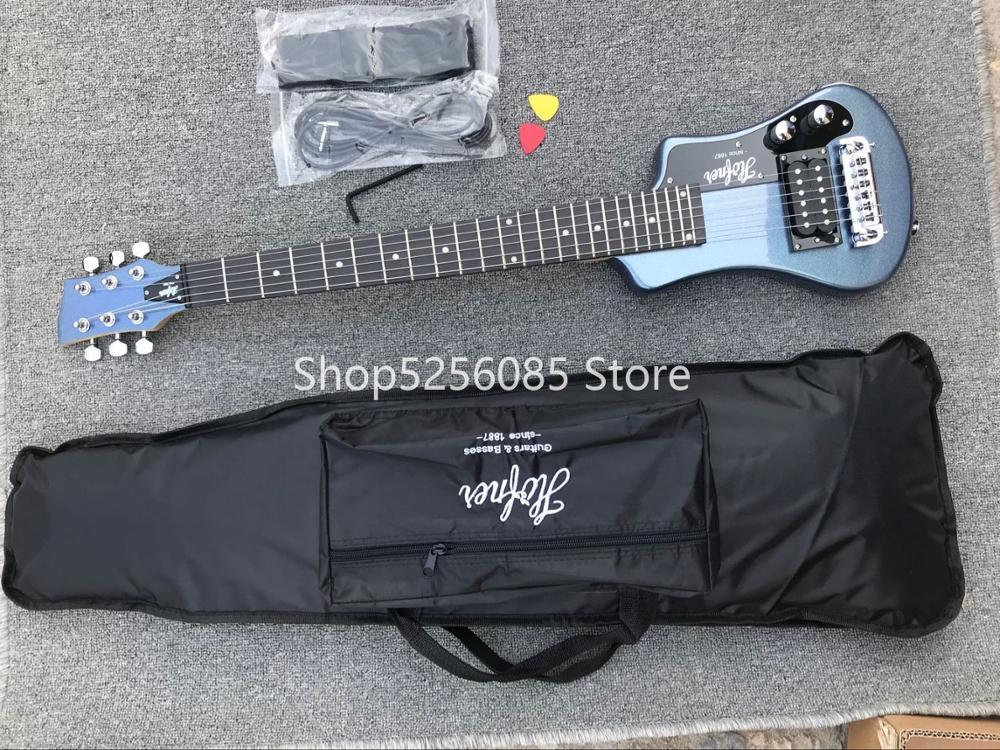 Livraison gratuite multi couleur hofner Shorty mini voyage guitare portable débutant guitare enfant guitare électrique - 4