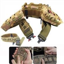 Ceinture de combat Molle de l'armée en Nylon réglable pour hommes, ceinture tactique de libération pour l'entraînement, la chasse en plein air, porte-poche EDC