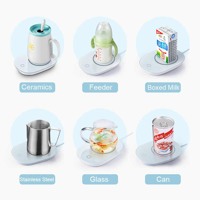 สมาร์ทแก้วกาแฟอุ่นอุ่นถ้วยสำหรับOffice Homeคงที่อุณหภูมิสำหรับนมโกโก้ซุปที่ดีที่สุดของขวัญไอเดียสำหรับสาวครอบครัว