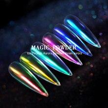 CHIVENIDO Magic Nail Powder Colored Acrylic Aurora Design Chrome for Art Salon