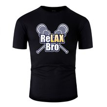 Print Relax Bro Lacrosse Player Lax Sticks Athletic Lacrosse Lover T Shirt Men Kawaii Mens Tshirts 2019 Gents(China)