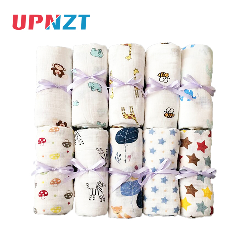 Flamingo Rose Fruits Print Muslin Baby Blankets Bedding Infant Swaddle Bath Gauze Towel Infant Wrap Sleepsack For Newborn