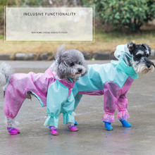 Dog four-legged raincoat Teddy small puppy summer clothes Schnauzer supplies all-inclusive waterproof pet clothing