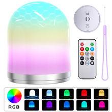 Светодиодная Ночная лампа умная usb перезаряжаемая rgb для спальни