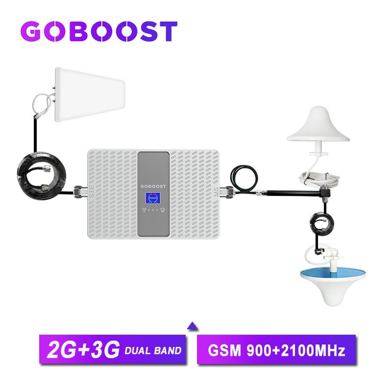 Amplifier 3g Cellular Signal Booster Gsm 900 2g 3g Universal Signal Booster 2100mhz Umts 70dB Internet Amplifier Gsm Antenna
