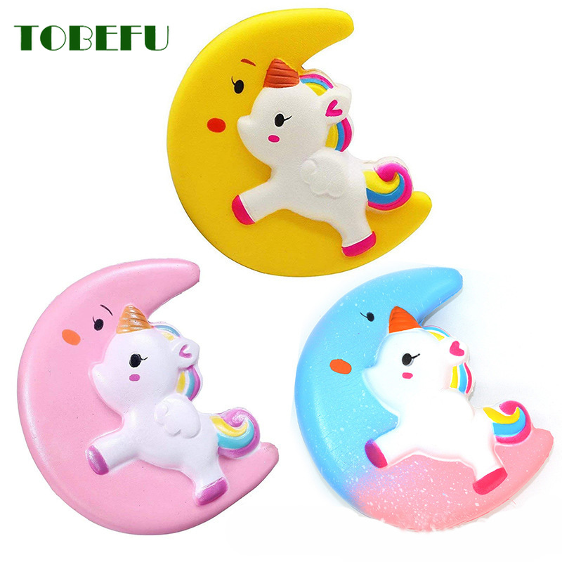 TOBEFU Jumbo Kawaii Moon Pegasus Unicorn Squishy Slow Rising Squeeze Toys Scented Soft Healing Antistress Stress Relief Toy