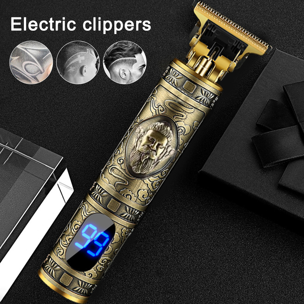T-Blade Clippers USB RechargeableElectric Clipper Grooming Cordless Trimmer Hair Cutting Machine Beard Shaver D8 Cutter Head