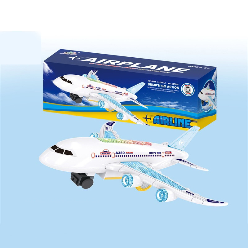 Hot Selling Air Bus Electric Light And Sound Small Passenger And Universal Model Plane CHILDREN'S Electric Toys