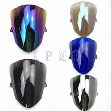 Para Kawasaki ZX6R 2009 2010 2011 2012 2013 2014 2015 ZX 10R 6R 636 ZX 2008 2009 2010 Windshield WindScreen bolha dupla(China)