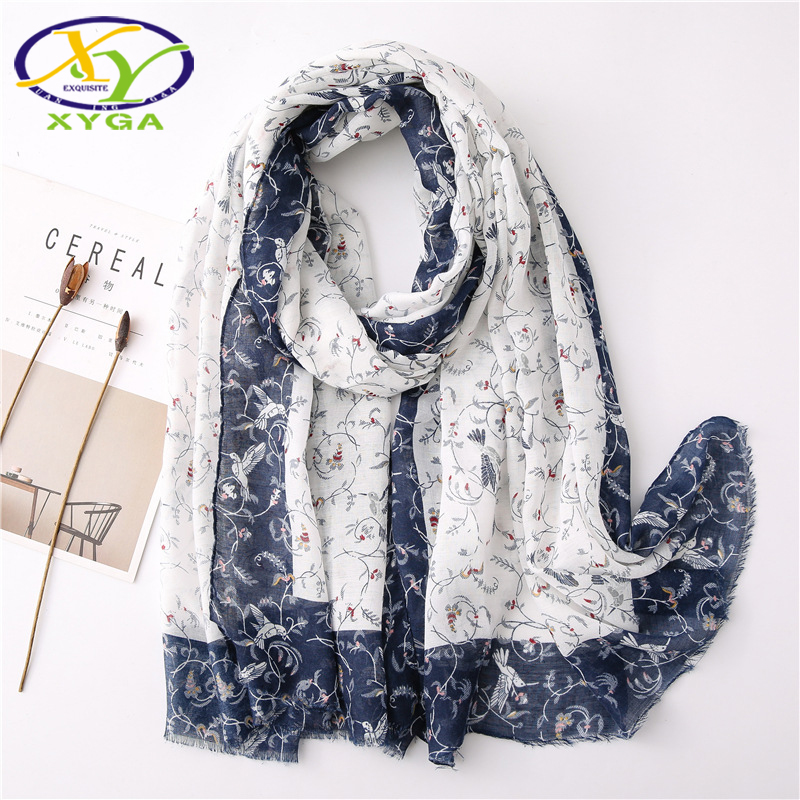 Women Cotton Long Scarves Soft Muslim Hijabs Head Scarf Female's Thin Summer Shawl Fashion Retro Style Ladies Wraps