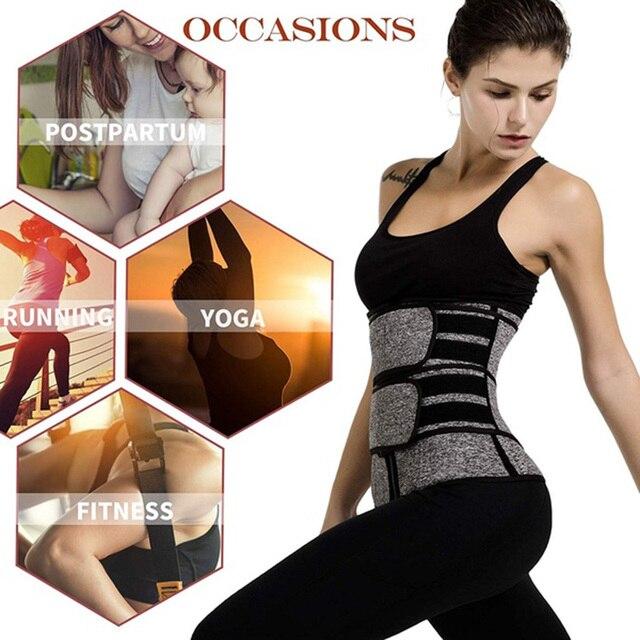 Waist Corset Trainer Body Shaper Sauna Sweat Sport Girdle Fajas Modeladoras Women Weight Loss Lumbar Shaper Workout Trimmer Belt 3