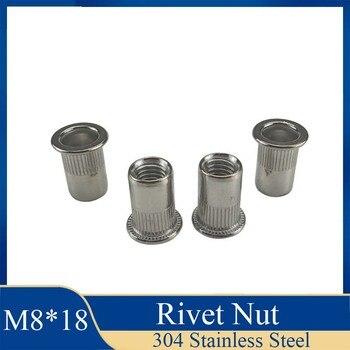 1Pcs M8 * 18 Niet Muttern Rivnuts Blindnuts Nutserts Muttern Einsatz Niet