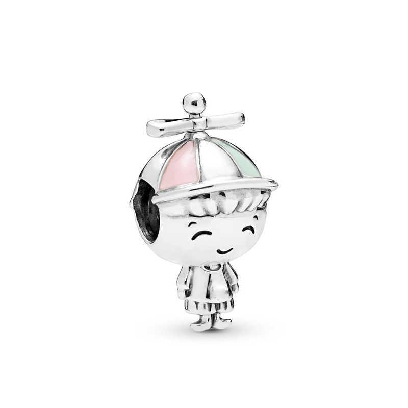 Berlapis Perak Anak Gadis Mickey Unicorn Hiasan Manik-manik Liontin Sesuai Baik Gelang & Kalung untuk Wanita Pecinta DIY Jeweley Membuat