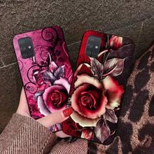 Rosa Rote rose blume Telefon Fall Für Samsung Galaxy A21S A01 A11 A31 A81 A10 A20E A30 A40 A50 A70 a80 A71 A51