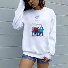 Kpop Exo Blackpink Monsta X Got7 Wanna One Women's Sweatshirt Stray Kids Spring Autumn Winter Pullover Hoody Fashion Hoodies