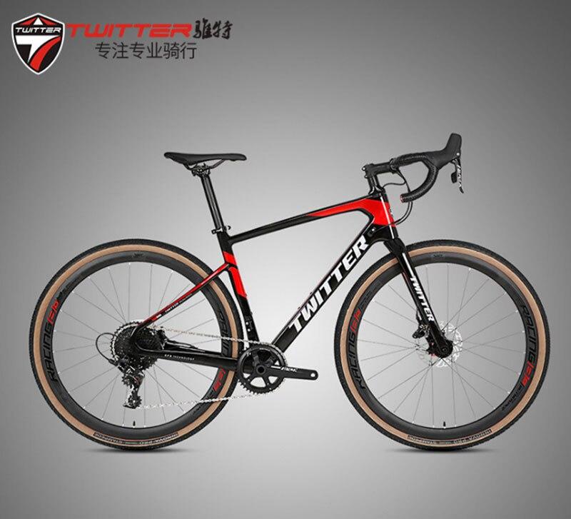 TWITTER, дорожный велосипед с гравия, 700C, для пересеченной местности, 11 скоростей, 40C, шина для гидравлического тормоза, SRAM APEX, переключатель пере...