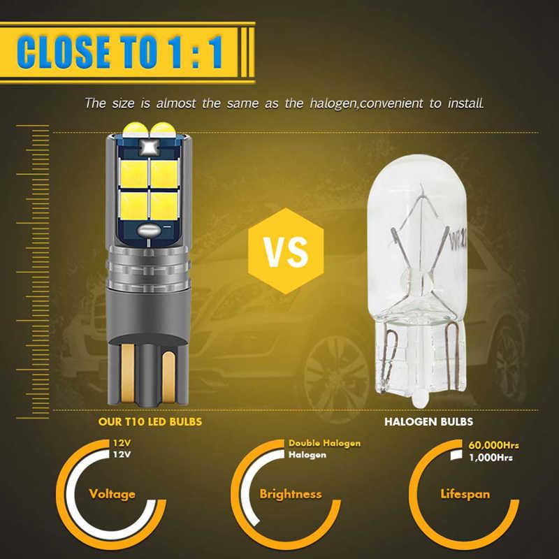 2x T10 W5W LED Canbus הנורה חניה עמילות אורות למאזדה 3 6 2 CX-5 323 5 CX5 2 626 ספוילרים MX5 CX 5 GH רכב פנים אור