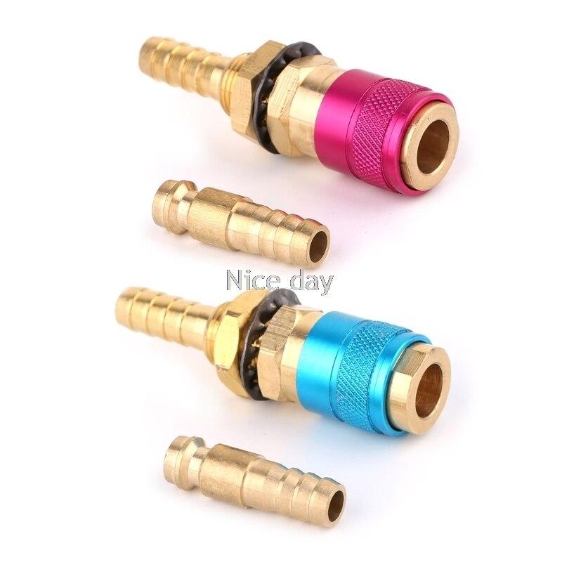 Wasser Gekühlt Gas Adapter Schnell Anschluss Fitting Für Wig-schweißbrenner + 8mm Stecker F15 20 Dropship