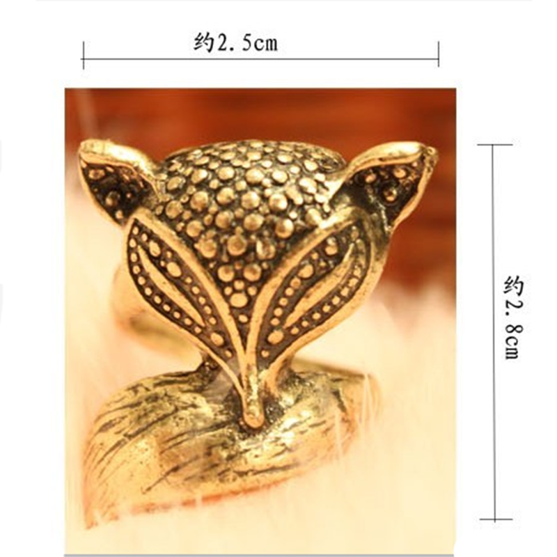 retro small fox finger ring personality charming charm cute little fox ring New Arrival  Fashion gift accessories for women