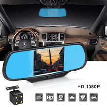 Car Dvr Camera 4.3 In Full HD 1080P Rearview Car Camera Mirror DVR Dash Camera For Car DVR Video Recorder Auto Registrator Dvrs jado d800s x6 stream rearview mirror ldws gps track 10 ips touch screen full hd 1080p car dvrs dash cam